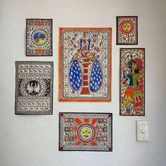 Madhubani Indian painting Madhubani sun hindu art deco art Saree Painting, Madhubani Painting, Mural Painting, Fabric Painting, Indian Traditional Paintings, Madhubani Art, Indian Folk Art, Art Corner, Amazing Paintings