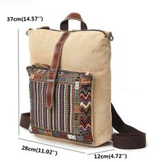 Hot-sale designer Woman Canvas Crossbody Bag Rainbow Color Retro Shoulder Bag Online - NewChic Mobile