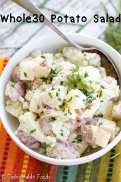 A favorite summer side dish gets a healthy makeover! This Whole30 potato salad uses homemade mayo and lots of crunchy veggies for the perfect bite!