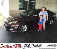 Congratulations to Dana Suell on your #Kia #Optima purchase from Clinton Miller at Southwest Kia Mesquite! #NewCar
