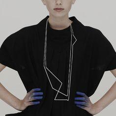eu.Fab.com | ZigZag Necklace Silver -designer Elisabeth Leenknegt 559,- euro