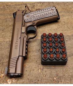 ( @gunsdaily post) #gunporn #1911 #glock #slide #bullets #45 #scorpion #9mm…