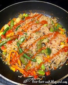 hCG friendly shirataki noodle stir-fry