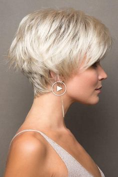 Hair Beauty - Short and sassy pixie wig featuring side swept bangs and can be smoothed down or flipped out. Ready to wear synthetic wig. Latest Short Hairstyles, Short Pixie Haircuts, Trending Hairstyles, Pixie Hairstyles, Haircut Short, Pixie Haircut Thin Hair, Teenage Hairstyles, Simple Hairstyles, Braid Hairstyles
