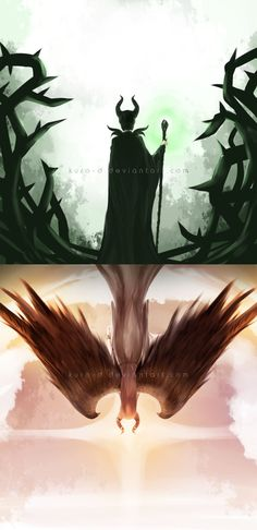 This movie was a wonderful example of how even those in the depths of despair and fury do not always stay that way. They are not doomed to fate as many believe. Incredible artwork Maleficent by Kuro-D on deviantART Disney Fan Art, Disney Love, Disney Magic, Disney And Dreamworks, Disney Pixar, Princesas Disney Zombie, Disney And More, The Villain, Pics Art