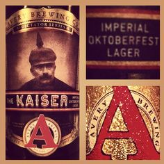 Avery Brewing Comapny The Kaiser Imperial Oktoberfest Lager. 9.3% ABV; 24 IBUs. Malt, butterscotch, and a little booziness on the nose. Mad malts on the tongue with some surprisingly spicy hops. Easily one of my top ten favorite beers of all time.