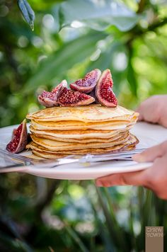 Ricotta and Lemon Pancakes with Fresh Figs
