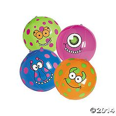 Inflatable Monster Beach Balls - PERFECT for the pool/swimming time at the party!!!