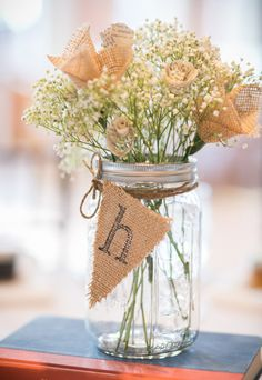 burlap and babys breath