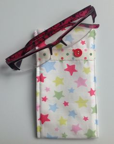 Cath Kidston Stars Fabric Glasses Case by sewmoira on Etsy