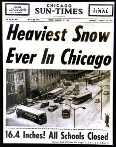 Remembering the The Great Chicago Blizzard that hit Jan. 26, 1967 ~ That was awesome!