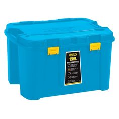 Durable Great home/garage storage solution Heavy duty storage that is versatile Sealable and lockable Garage Storage Solutions, Large Baskets, Storage Boxes, Storage Organization, Home And Garden, Blue, Storage Crates