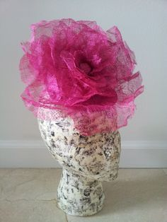 beautiful Giant Rose Fascinator Woooowwwww Love it
