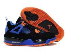 premium selection 2ec43 5ae7c Discount Air Jordan 4 (IV) Fluff Black Orange Blaze-Old Royal Newest