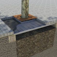 IRONSMITH  Patented Paver-Grate™ suspended paver system lets you design over – instead of around tree areas for optimized planting, tree health and pedestrian comfort. The Paver-Grate System™ seamlessly provides root space without impeding on pedestrian walk areas.