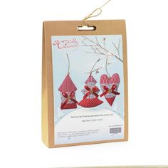DIY craft kit which creates three Christmas decorations. Shapes include a house, tree and heart. Perfect for people who enjoy being creative. Craft Kits, Diy Kits, Craft Projects, Felt Christmas Decorations, Christmas Crafts, Fun Crafts, Crafts For Kids, Xmas Gifts, Homemade Gifts