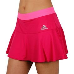 adidas Performance Womens Tennis Short Skort Skirt - with built in undershorts Tennis Clothes, Tennis Outfits, Sports Skirts, Tennis Skort, Girl Outfits, Fashion Outfits, Fitness, Pink Girl, Sportswear