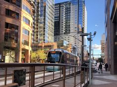 Light rail in downtown Phoenix,AZ