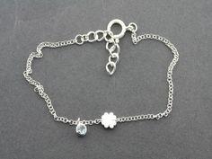 clover/topaz bracelet Topaz, Brass, Pearls, Sterling Silver, Unique, Bracelets, Gifts, Beautiful, Jewelry