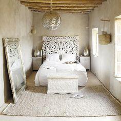 Chevet indien blanc - Namaste