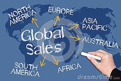 Global sales chalkboard