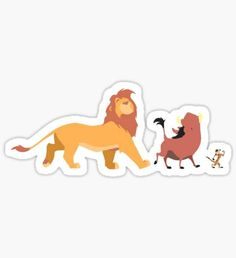 The Lion King - Timón, Pumba, Simba Sticker Stickers Cool, Cute Laptop Stickers, Bubble Stickers, Printable Stickers, Simba Et Nala, Lion King Timon, The Lion King, Lion Tribal, Homemade Stickers