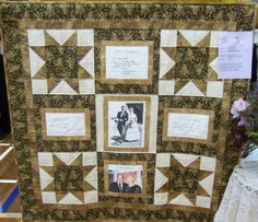 Golden Anniversary Quilt Pattern | golden moments by ena brown ena made this small quilt
