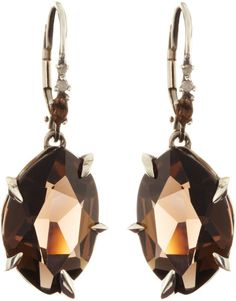Midnight Marquise Smoky Quartz Earrings with Diamonds at Niemans