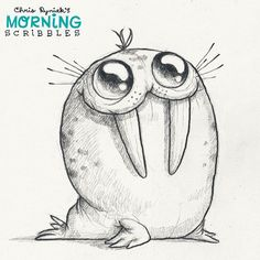 Пятнистые Моржа!  #morningscribbles