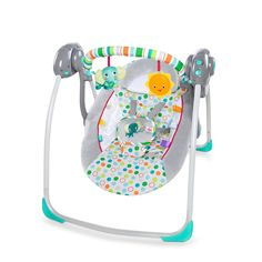 Bright Starts Itsy Bitsy Jungle Portable Musical Baby Bouncer Swing With Toys Bouncer Swing, Baby Bouncer, Frame Stand, Baby Swings, Cute Baby Pictures, Swinging Chair, Seat Pads, Baby Grows, Baby Gear