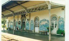 Jorge Pinto   Estação Ferroviária do / Railway Station of Bombarral   1930 #Azulejo #JorgePinto