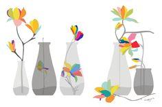 Magnolia art print - Rainbow Magnolias - Art Print,Colorful Art Print,Floral Summer,Floral illustration Print,flower Print,Giclee Print by PragyaK on Etsy https://www.etsy.com/listing/53035438/magnolia-art-print-rainbow-magnolias-art