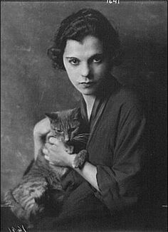 Miss Blanche Gervais with Buzzer Photo by Arnold Genthe
