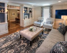 Living Room Tufted Leather Ottoman Design, Pictures, Remodel, Decor and Ideas - page 2