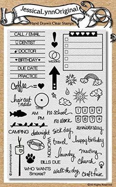 JessicaLynnOriginal Calendar Planner Clear Stamp Set #1 The Original Planner - JessicaLynnOriginal, LLC