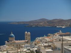 Ermoupolis, Syros- that building on the left is St. Nicholas Cathedral. and i was there! aghh. <3 i miss it!