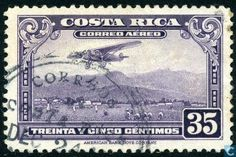 Stamps - Costa Rica [CRI] - Post aircraft for landing 1952