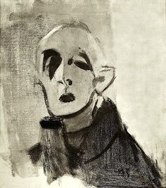 Helene Schjerfbeck - Self-portrait Portrait Drawing, Face Art, Sketches, Fine Art, Art Drawings, Art, Figurative Artwork, Schjerfbeck, Portrait Art
