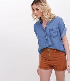 Camisa feminina Manga curta Bolso frontal Marca  Blue Steel Modelo veste  tamanho  P COLEÇÃO 19f3440298e