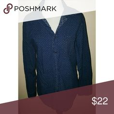 Merona MEN'S Two Patterned Button Up Two colors of  blue pattern  w a different blue and white pattern on the chest pocket and the area under the collar see the pic.... GUC.... Feel free to ask any questions... ✅Make an offer through OFFER button ONLY ✅Negotiations welcome ❌No trades ❌No PayPal ✴Bundles encouraged✴ Merona Shirts Casual Button Down Shirts