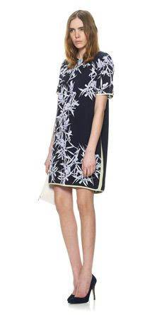 Christopher esber block tee dress white navy