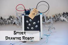 Spider drawing robot - easy drawing robot for #Halloween HalloweenScience #Scienceforkids #HalloweenSTEM