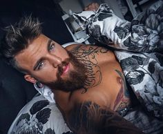 View the best mens hairstyles from Charlemagne Premium male grooming and beard Beautiful Eyes, Gorgeous Men, Bart Tattoo, Hot Beards, Beards Funny, Tatted Men, Beard Lover, Beard Man, Inked Men