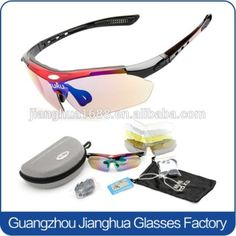 $3.50 5 lens interchangeable bike sunglasses polarized anti-UV outdoor sports sunglasses