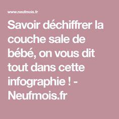 Savoir déchiffrer la couche sale de bébé, on vous dit tout dans cette infographie ! - Neufmois.fr
