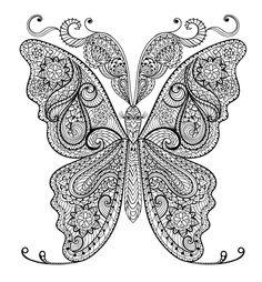 Butterfly Doodle (8) - Doodle is Art
