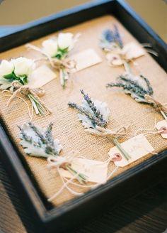Fresh lavender boutonnieres