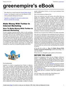 make-money-with-twitter-in-internet-marketing-e-book by greenempire via Slideshare