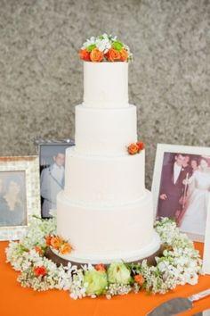 ,  cake ,  cakes ,  decor ,  orange ,  blossom ,  bouquets ,  bridal ,  color ,  orange , Leesburg Bridal