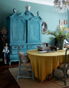 "This dining room is from our feature ""Full of Surprises"""